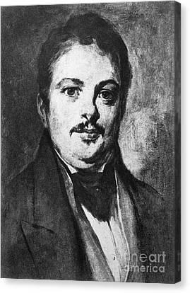 Honore De Balzac (1799-1850) Canvas Print by Granger