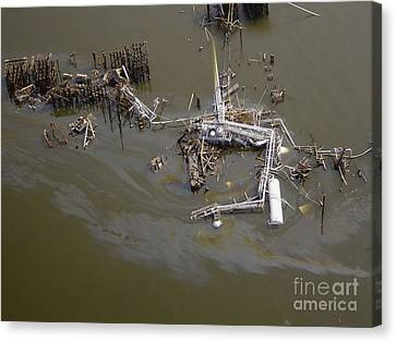 Hurricane Katrina Damage Canvas Print by Science Source