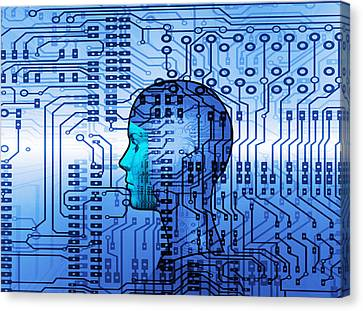 Artificial Intelligence Canvas Print by Mehau Kulyk