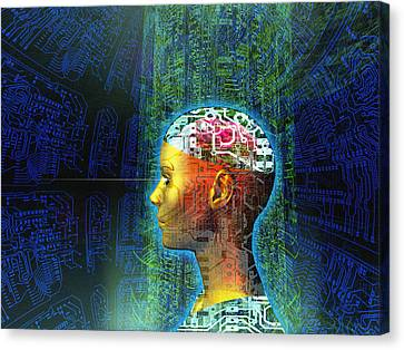 Artificial Intelligence Canvas Print by Mehau Kulyk