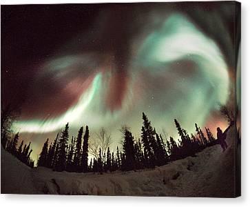 Aurora Borealis Canvas Print by Chris Madeley