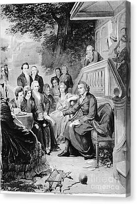 Friedrich Schiller Canvas Print by Granger