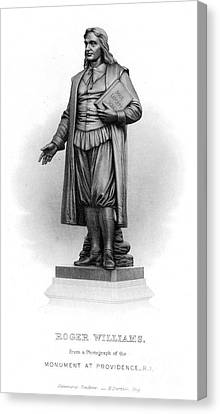 Roger Williams (1603-1683) Canvas Print by Granger