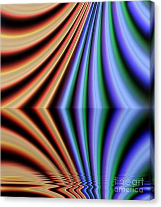 Fractal Reflection Canvas Print by Odon Czintos