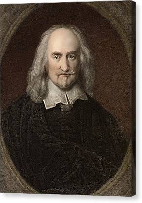 1660 Thomas Hobbes English Philosopher Canvas Print by Paul D Stewart