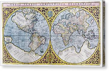 16th Century World Map Canvas Print by Georgette Douwma