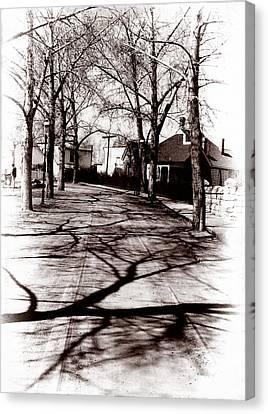 1900 Street Canvas Print by Marcin and Dawid Witukiewicz