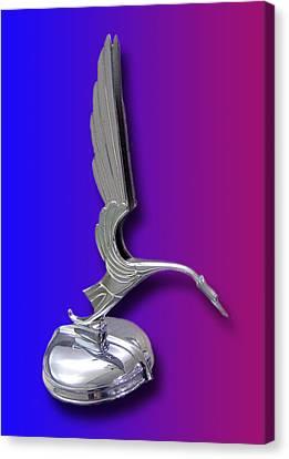 1931 Cadillac V-16 Heron Mascot Canvas Print by Jack Pumphrey