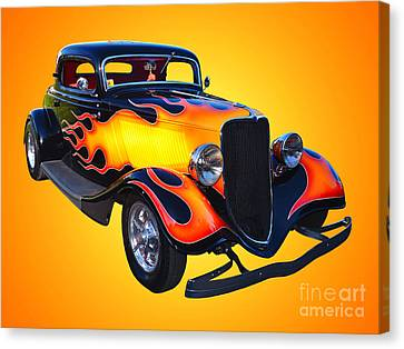 1934 Ford 3 Window Coupe Hotrod Canvas Print by Jim Carrell