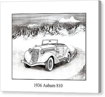 1936 Auburn 810 Canvas Print by Jack Pumphrey