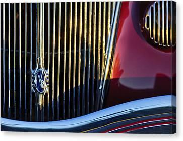 1936 Ford Phaeton V8 Grille Emblem Canvas Print by Jill Reger