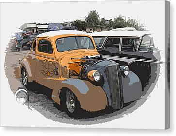 1937 Chevy Coupe Canvas Print by Steve McKinzie