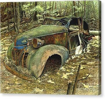 1939 Pontiac Canvas Print by Robert Hinves