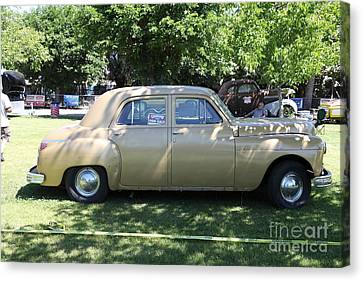 1949 Plymouth Delux Sedan . 5d16208 Canvas Print by Wingsdomain Art and Photography