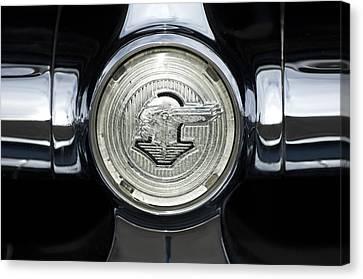 1950 Pontiac Grille Emblem 2 Canvas Print by Jill Reger