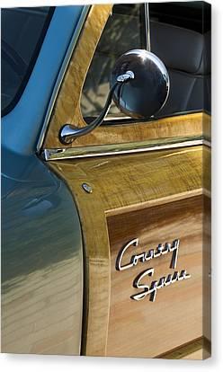 1951 Ford Woodie Country Sedan Canvas Print by Jill Reger