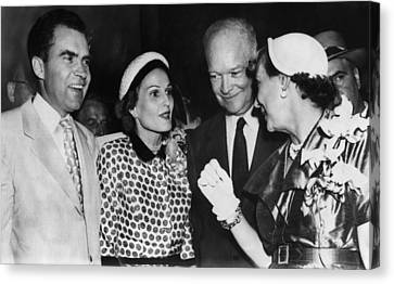 1952 Presidential Campaign. From Left Canvas Print by Everett