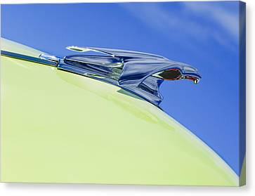 1953 Chevrolet Pickup Hood Ornament Canvas Print by Jill Reger