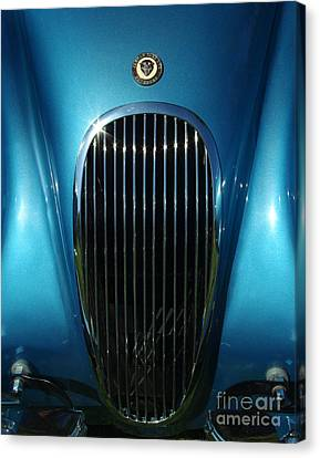 1953 Jaguar 120m Grill Canvas Print by Peter Piatt
