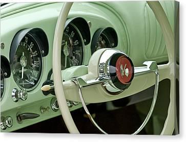 1954 Kaiser Darrin Steering Wheel Canvas Print by Jill Reger