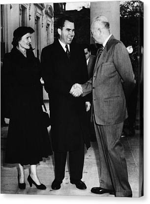 1954 Us Presidency.  Us President Canvas Print by Everett