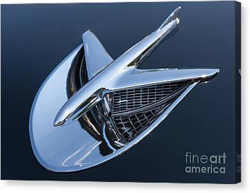 1956 Buick Special Hood Ornament Canvas Print by Clarence Holmes
