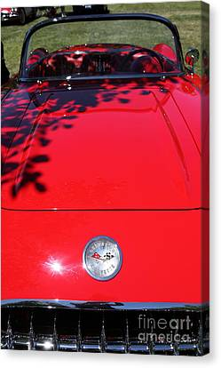 1956 Chevrolet Corvette . 5d16292 Canvas Print by Wingsdomain Art and Photography