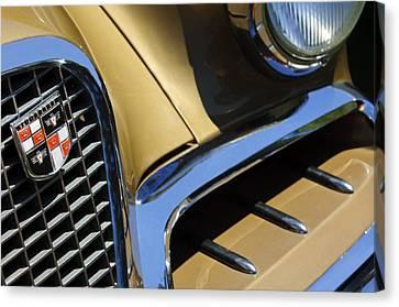 1957 Studebaker Golden Hawk Hardtop Grille Emblem Canvas Print by Jill Reger