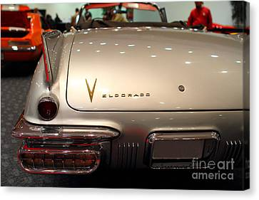 1958 Cadillac Eldorado Biarritz Convertible . Silver . 7d9466 Canvas Print by Wingsdomain Art and Photography