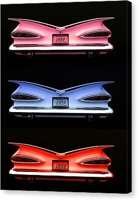 1959 Chevrolet Eyebrow Tail Lights Canvas Print by Tim McCullough