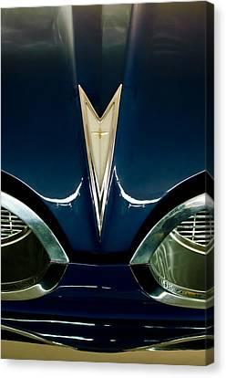 1959 Pontiac Bonneville Convertible Hood Emblem Canvas Print by Jill Reger