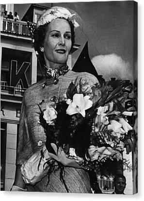 1959 Us Presidency.  Second Lady Canvas Print by Everett