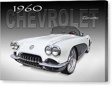 1960 Corvette Canvas Print by Mike McGlothlen
