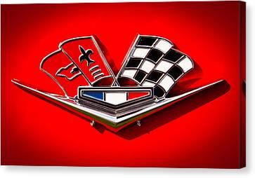 1963 Chevy Corvette Emblem Canvas Print by David Patterson