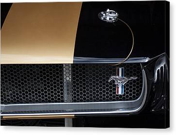 1965 Ford Mustang Grille Emblem 3 Canvas Print by Jill Reger