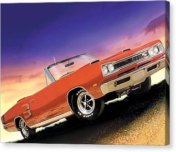 1969 Dodge Coronet 500 Rt Canvas Print by Rod Seel