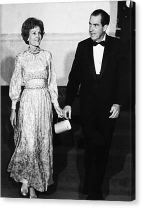 1969 Us Presidency.  First Lady Canvas Print by Everett