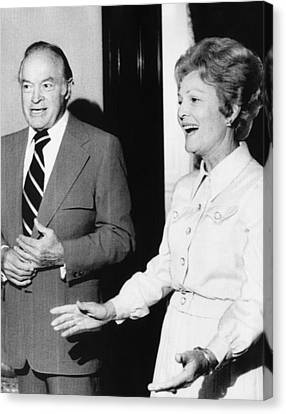 1973 Us Presidency.  Bob Hope And First Canvas Print by Everett