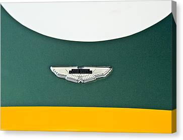 1993 Aston Martin Dbr2 Recreation Hood Emblem Canvas Print by Jill Reger