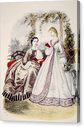 19th Century Fashion Illustration Canvas Print by Everett