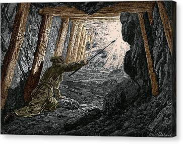 19th-century Coal Mining Canvas Print by Sheila Terry