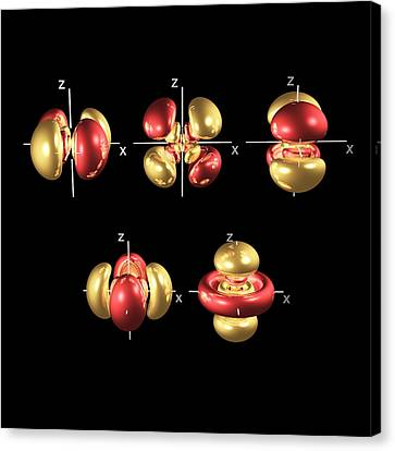 5d Electron Orbitals Canvas Print by Dr Mark J. Winter