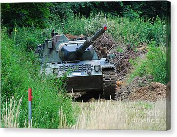 A Leopard 1a5 Mbt Of The Belgian Army Canvas Print by Luc De Jaeger