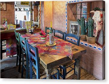 A Tex Mex Restaurant In The Town Canvas Print by Jaak Nilson