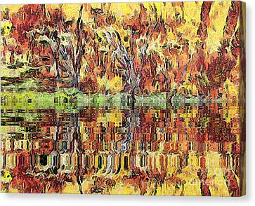 Abstract Artwork Canvas Print by Odon Czintos