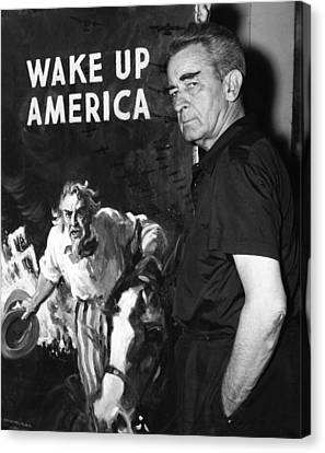 American Artist And Cartoonist James Canvas Print by Everett