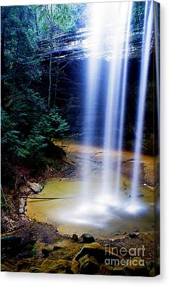 Ash Cave Waterfall Canvas Print by Thomas R Fletcher