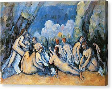 Bathers Canvas Print by Paul Cezanne