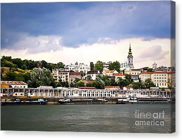 Belgrade Cityscape On Danube Canvas Print by Elena Elisseeva