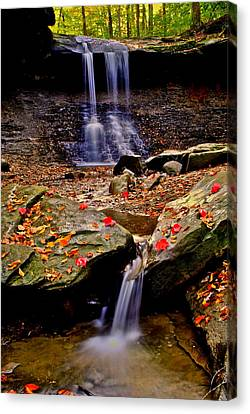 Blue Hen Falls Canvas Print by Frozen in Time Fine Art Photography